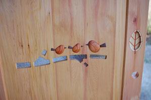 木 室内ドア 小鳥 かわいい