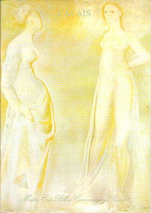 Calais, étude de Maître Pillon. Vente du 2 juin 1996, Vase de roses blanches, lot N° 260, aquarelle signée en bas à gauche.