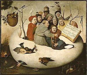 """""""Concert dans l'oeuf"""" de Jérôme Bosch (vers 1500)"""