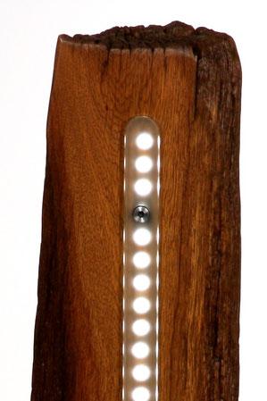 Licht Objek, Design, Leuchte, Lampe, Altholz, Glas, LED-5