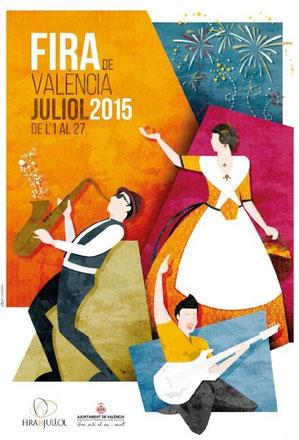 Cartel y programa de la Feria de Julio de Valencia 2015