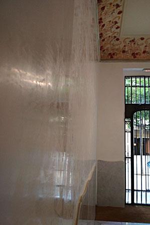Pintors Barcelona Pintores. Estuco veneciano a la cal en Vestíbulo. Restauraciò Patrimoni arquitectonic.