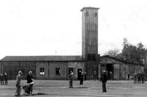 feuerwehrgeraetehaus, dudweiler, 1947