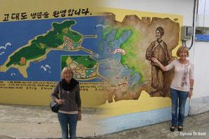 Zu Ehren von Karl Gützlaff auf Einladung von Herrn Prof. Dr. OH Hyun-Ki auf der Insel Godae-do