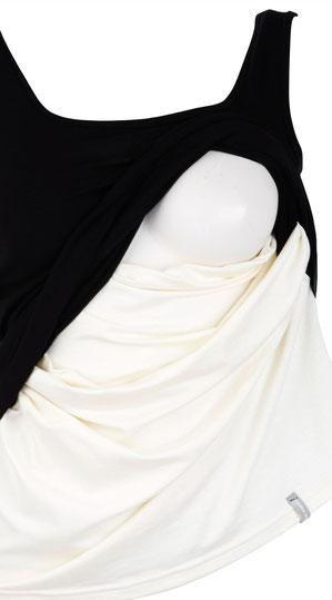 maternity tank top black & white