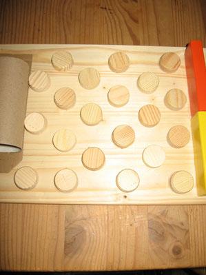 Kleine runde Holzstücke, Findus' Lieblingsteil: Zungenmodulfläche, Findus Lieblingsteil