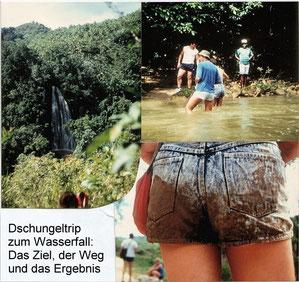 karibischer Dschungeltrip 1989 zum Wasserfall nach El Limon in der Dominikanischen Republik