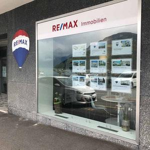 Schaufenster Konzept Remax Immobilien 2020