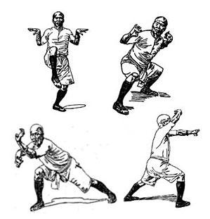 historische Zeichnung des Hung Gar Kung Fu von Lam Sei Wing