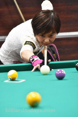 Miho Nakajima won 2017 JPBA Women's Pro Tour stop#1, Tokyo
