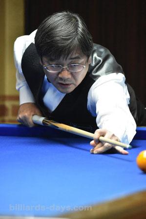Yoichiro Mori won 2017 3-cushion Tokyo Open.