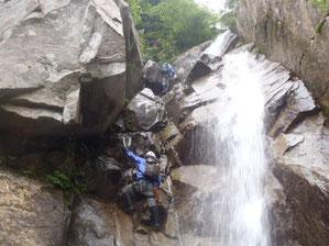 最初の大きな滝