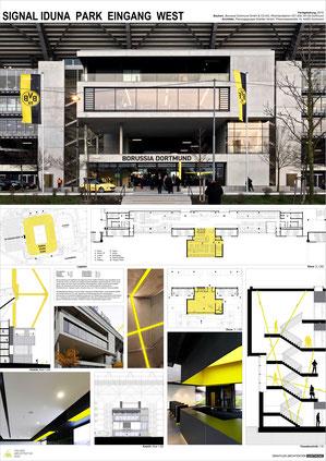 signal iduna park eingang west bvb borussia dortmund drahtler architekten planungsgruppe