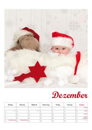 Baby-Fotokalender, Kalenderblatt Dezmber