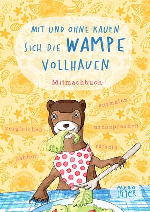 Cover Bilderbuch Kater Fläz, blaue Katze, Landschaft mit Tannen von Petra Jäger Illustration