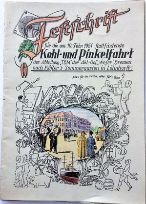 """Kohlfahrt am 10. Feb. 1951, Abt. """"TBM"""", Akt.-Ges. """"Weser"""""""