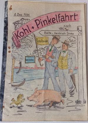 "Kohlfahrt am 6. Dez. 1936, Abt. ""Getriebebau"", Akt.-Ges. ""Weser"""