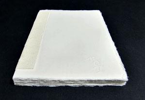 Buchblock aus handgschöpftem Baumwollpapier