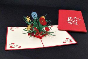 """Wildblumen"" Pop Up Karte - LIN ArtDesign -"