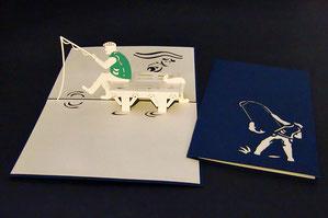 """""""Angler"""" Pop Up Karte - LIN ArtDesign -"""