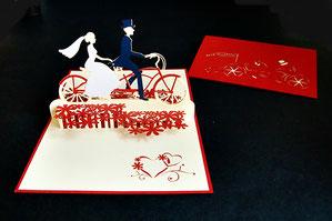 """""""Hochzeit Mann und Frau"""" Pop Up Karte - LIN ArtDesign -"""