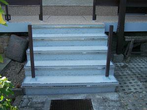 Treppe mit Abdichtung