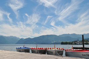 Boote in Gmunden am Traunsee