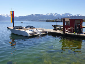 Frauscher 650 Alassio zu mieten. Bootsvermietung Gmunden am Traunsee.