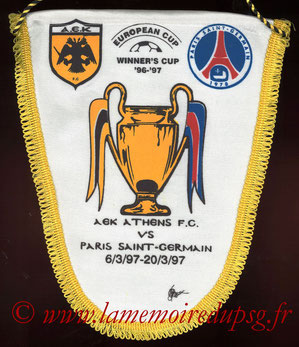 Fanion AEK Athenes-PSG  1996-97