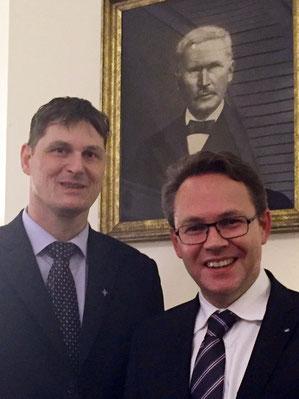 Markus Wortmann und Dr. Kölbach