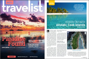 "Solo Travelist February Issue 2014 features my article ""Heaven on Earth - Aitutaki, Cook Islands"" by Sabrina Iovino 
