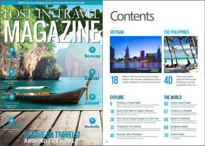"""Lost in Travel Magazine November Issue 2014 features my article """"Boracay - Still A Paradise? A Travel Guide to Philippines' most Visited Island"""" by Sabrina Iovino 