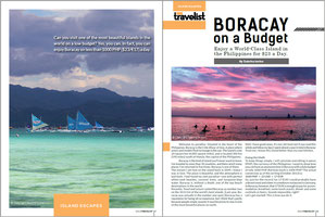 """Solo Travelist November Issue features my article """"Boracay on Budget"""" by Sabrina Iovino 