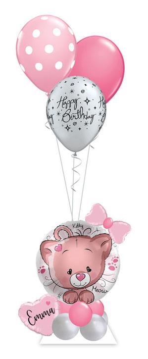 Ballon Luftballon Folienballon Ballongruß Katze Kätzchen Herz süß Geburtstag Kindergeburtstag Mädchen Ballongeschenk Ballonpost Box Versand verschicken Ballongeschenk Geschenk Deko Dekoration Mitbringsel Name personalisiert Personalisierung Idee