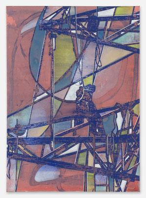JAN MUCHE, OT,  2020, Acryl und Tusche auf Leinwand, 70 x 50 cm