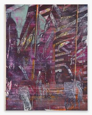 JAN MUCHE, Total, 2020, Acryl und Tusche auf Leinwand, 230 x 180 cm