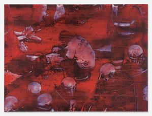 JAN MUCHE, Carlo, 2020, Acryl und Tusche auf Leinwand, 90 x 120 cm