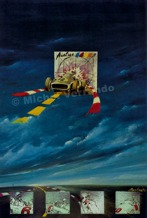 art automobile stirling moss mercedes aintree automotive art f1 painting art automobile f1 artist