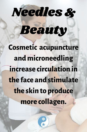 """""""Needles and Beauty: Cosmetic acupuncture and microneedling increase circulation in the face and stimulate the skin to produce more collagen."""""""