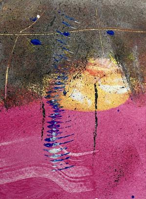 Trascendente, 2018, tecnica mista, 10 x 13 cm