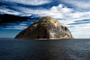 Die Insel Ailsa Craig bei Glasgow