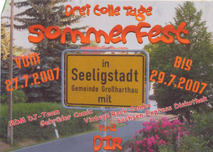 Bild: Seeligstadt Chronik 2007