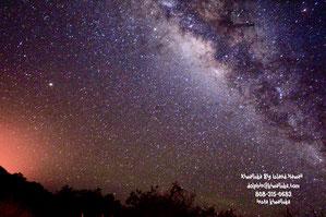 水中は45分くらいです。その後、星を見ながらの帰港。(写真マウナケア)