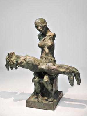 Figur 266B + 268, Bronze, 2015, 30x26x13,5cm