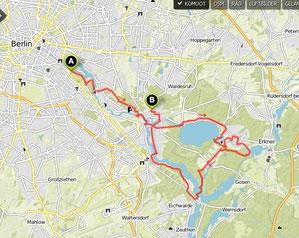 Übersichtskarte Berliner Fähren-Radtour