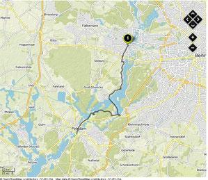 Übersichtskarte Spandau-Potsdam