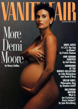 Demi Moore – Annie Leibovitz (1991).