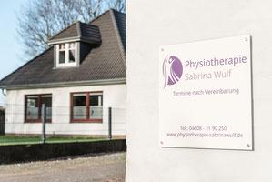 Die Physiotherapie Sabrina Wulf in der Lecker Chaussee 20a in Handewitt von aussen