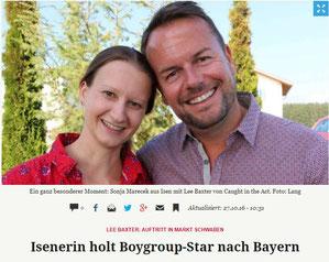 Isenerin Sonja Marecek und Lee Baxter beim Interview mit dem Merkur
