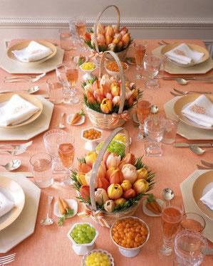 декор праздничного пасхального стола-16